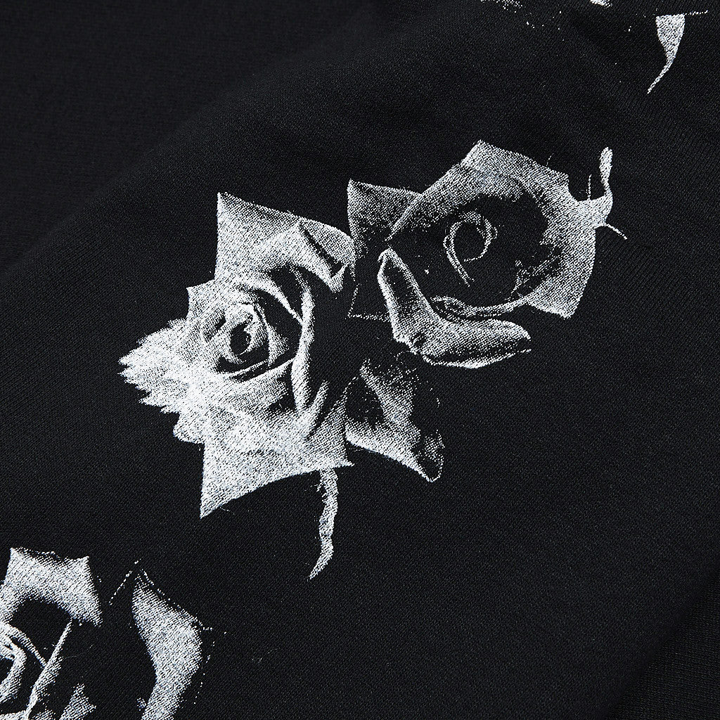 Raised By Wolves Black Rose Crew Neck Sweatshirt Black