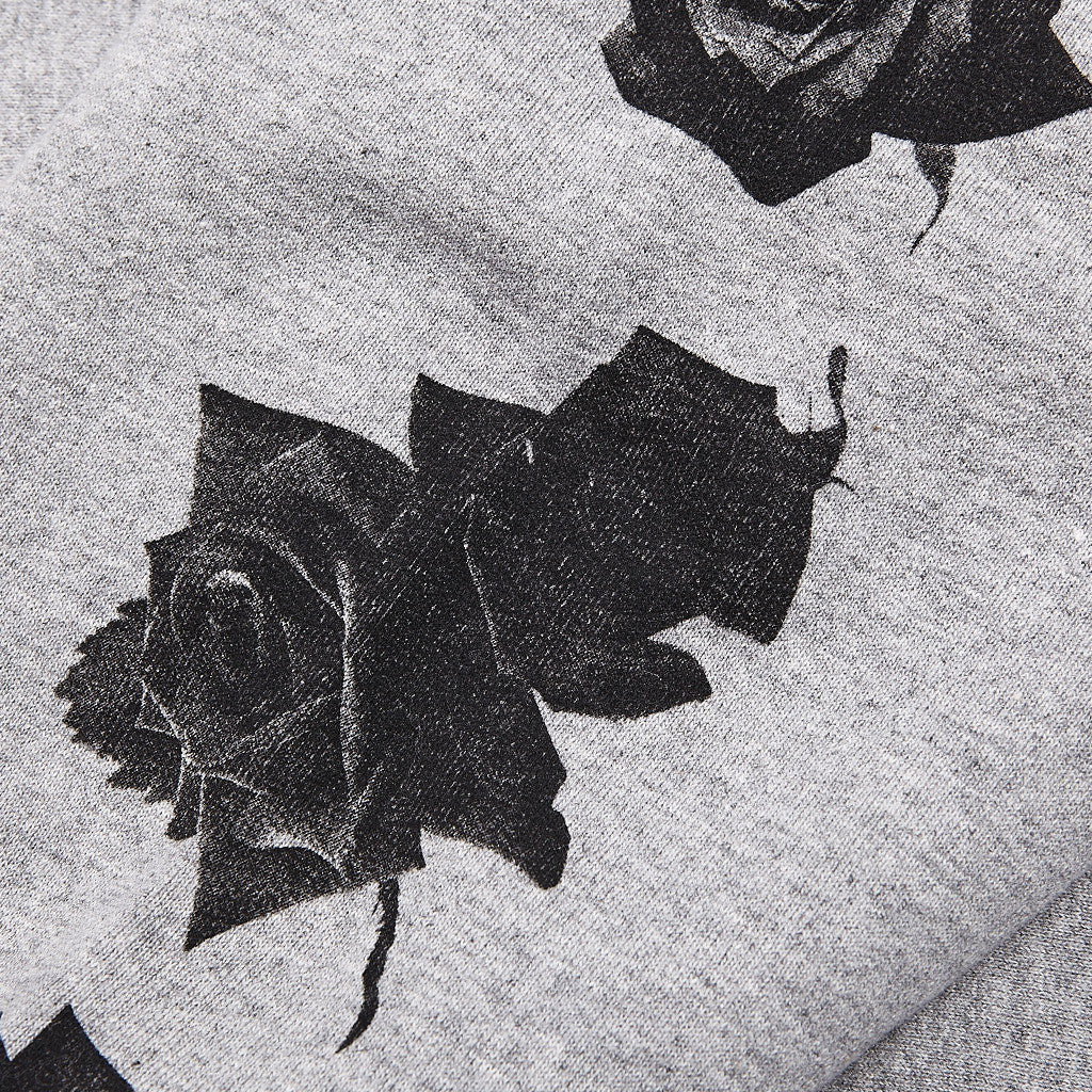 Raised By Wolves Black Rose Crew Neck Sweatshirt Heather Grey