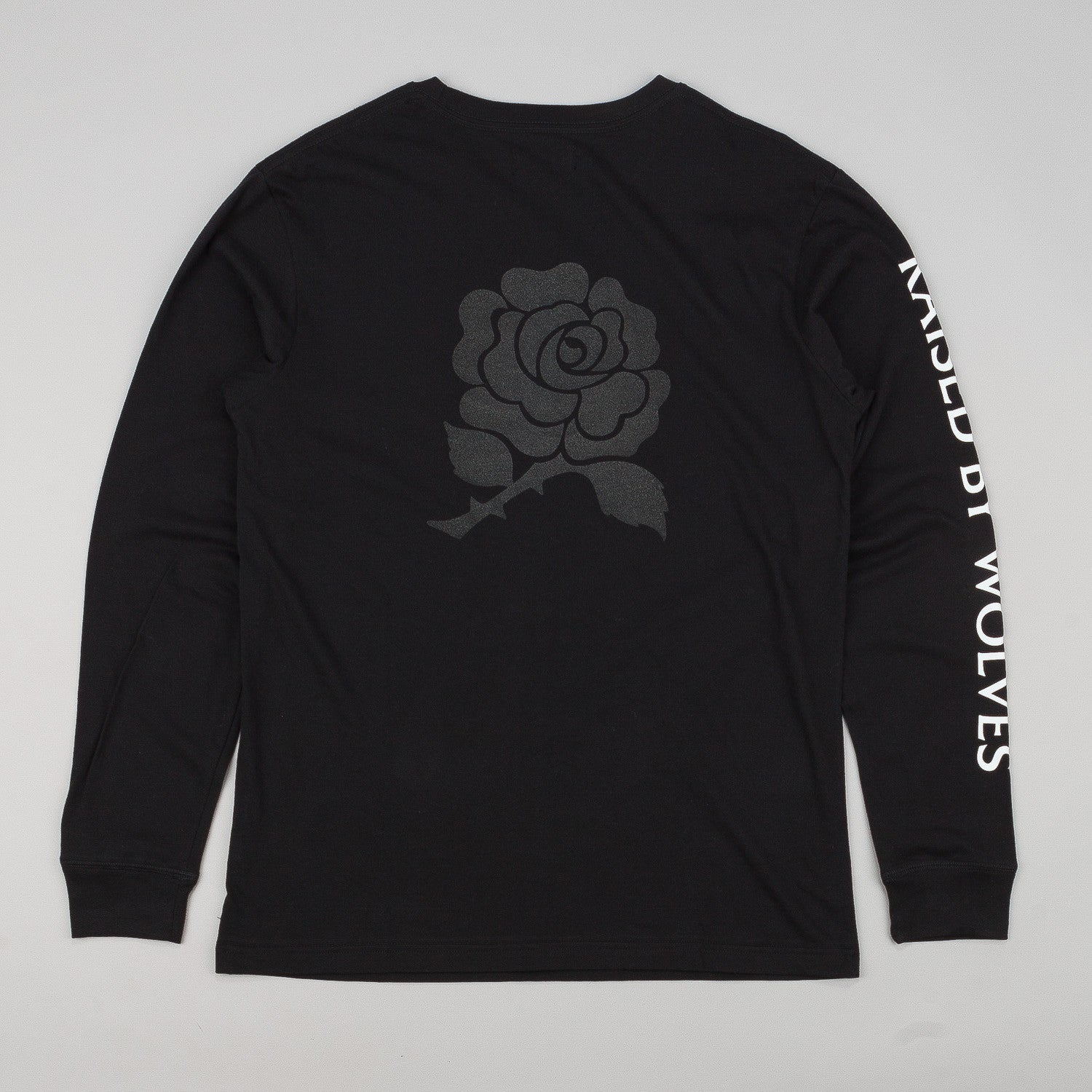 Raised By Wolves Black Rose Long Sleeve T-Shirt - Black