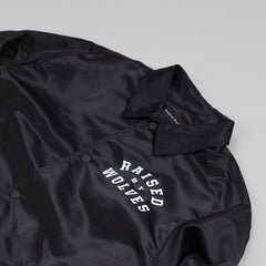 Raised By Wolves College Coaches Jacket Black