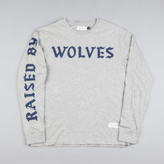 Raised By Wolves Flock Long-Sleeve T-Shirt - Heather Grey