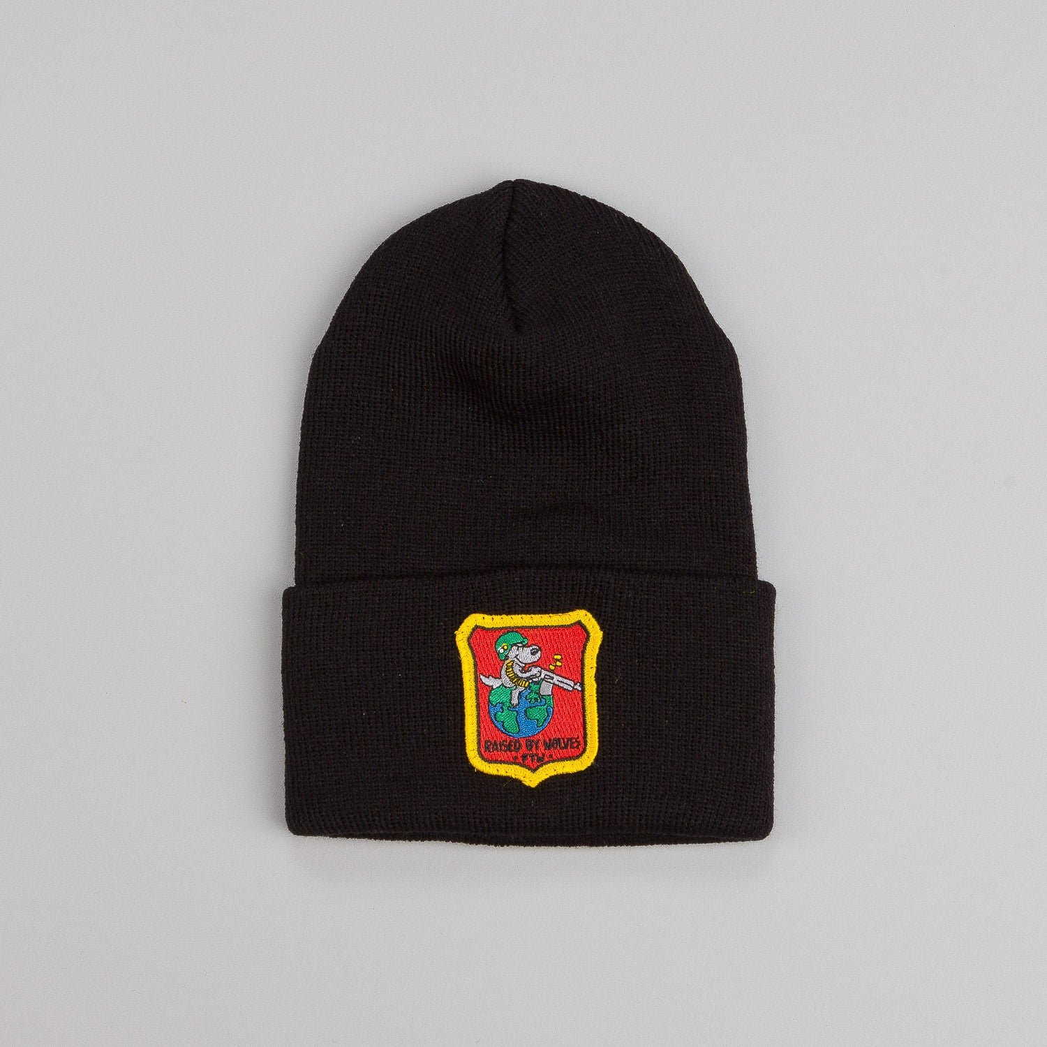 Raised By Wolves For the Win Watch Cap Black