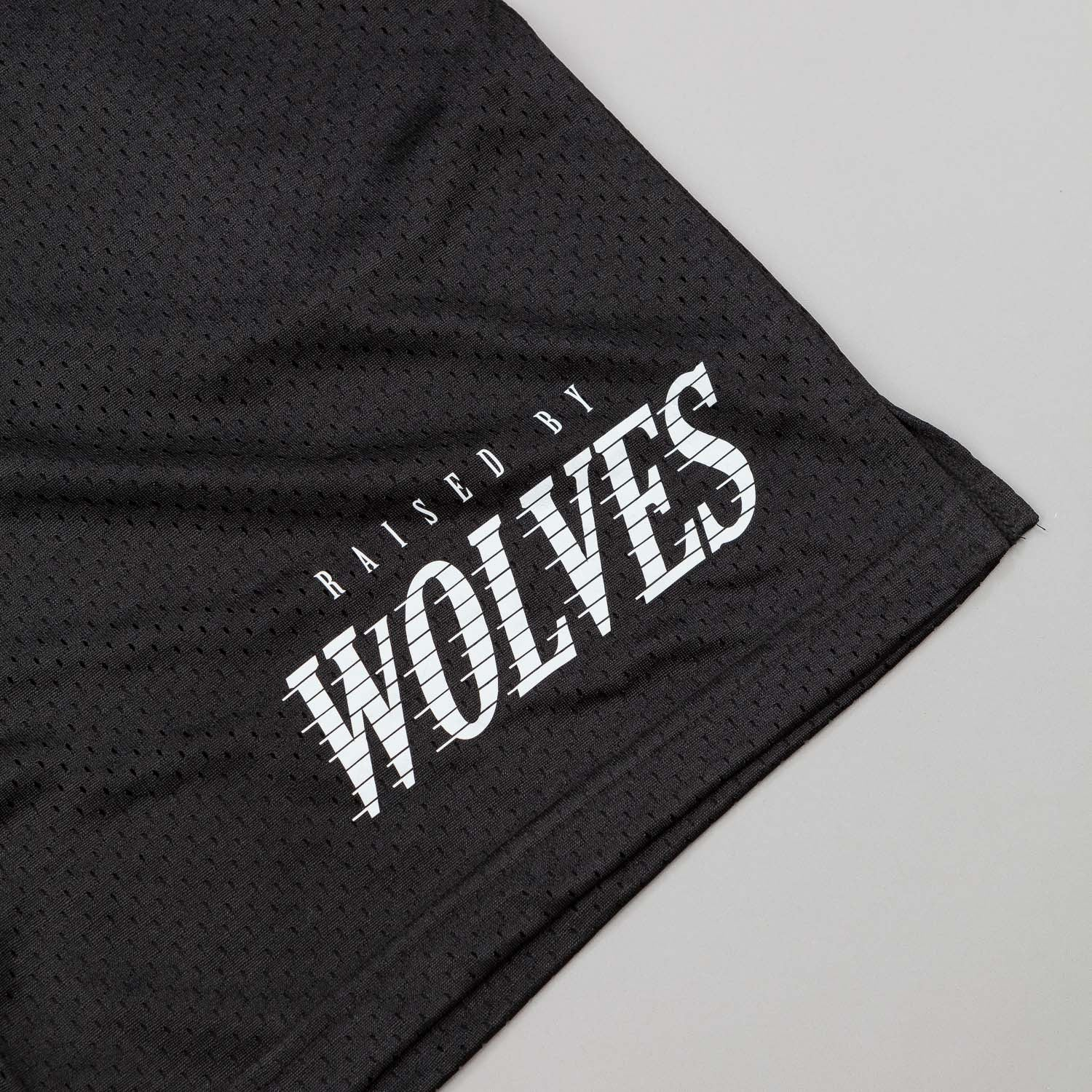 Raised By Wolves Full Tilt Mesh Basketball Shorts - Black
