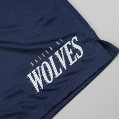 Raised By Wolves Full Tilt Mesh Basketball Shorts - Navy