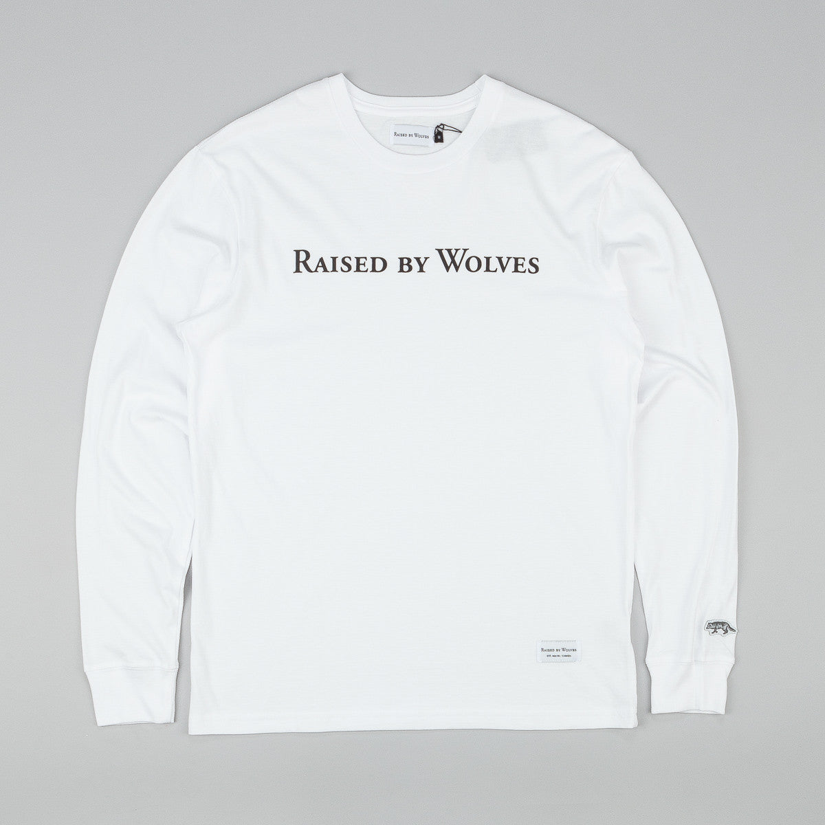Raised By Wolves Geowulf L/S T-Shirt - White