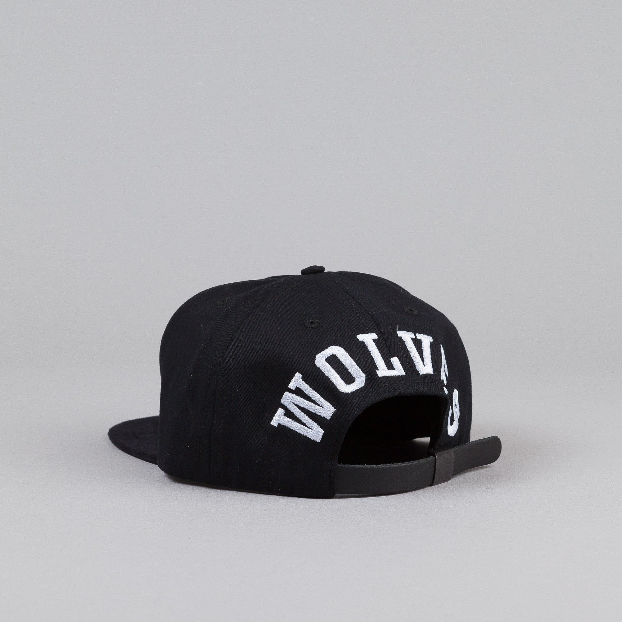 Raised By Wolves Hockey Arch Strapback Cap Black