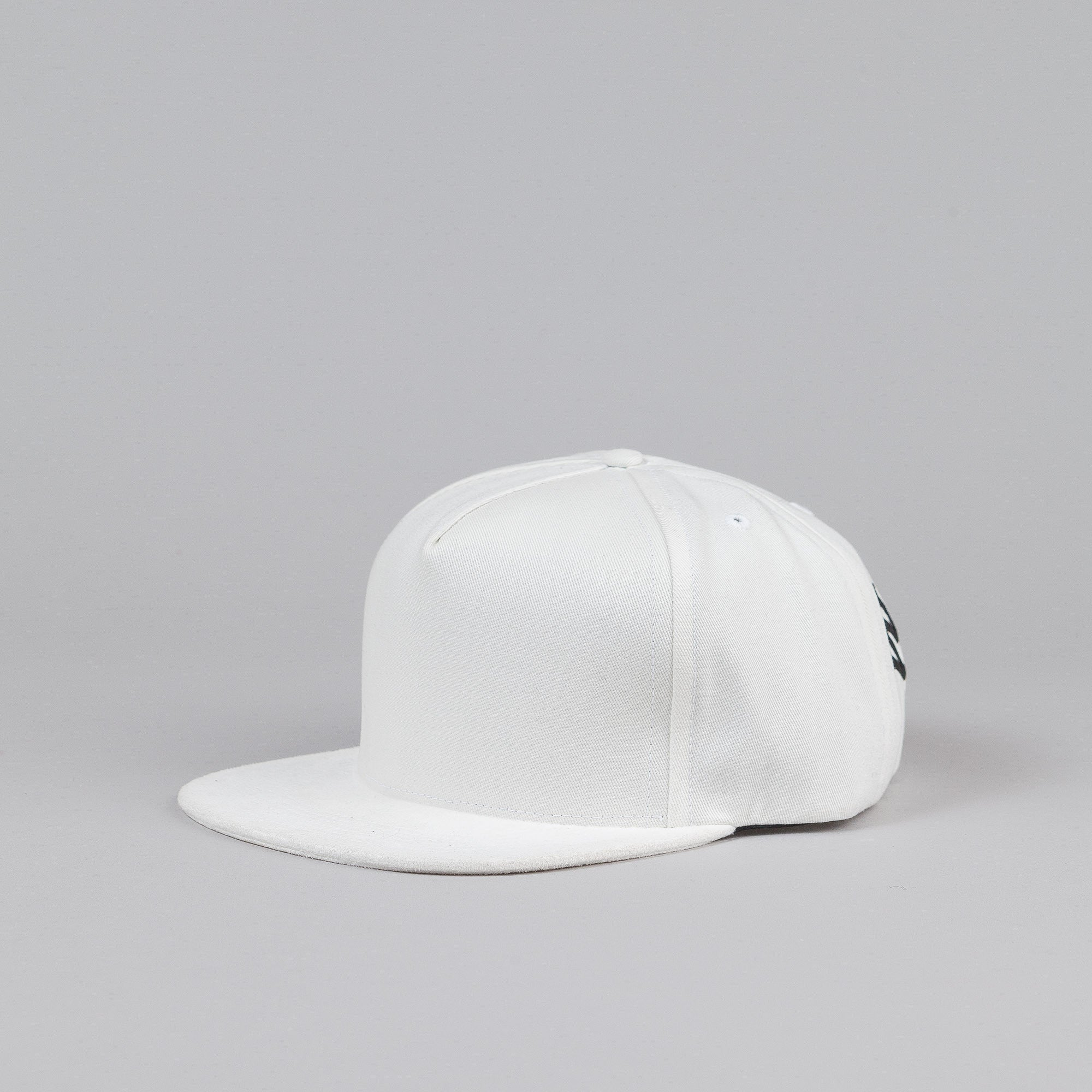Raised By Wolves Hockey Arch Strapback Cap White
