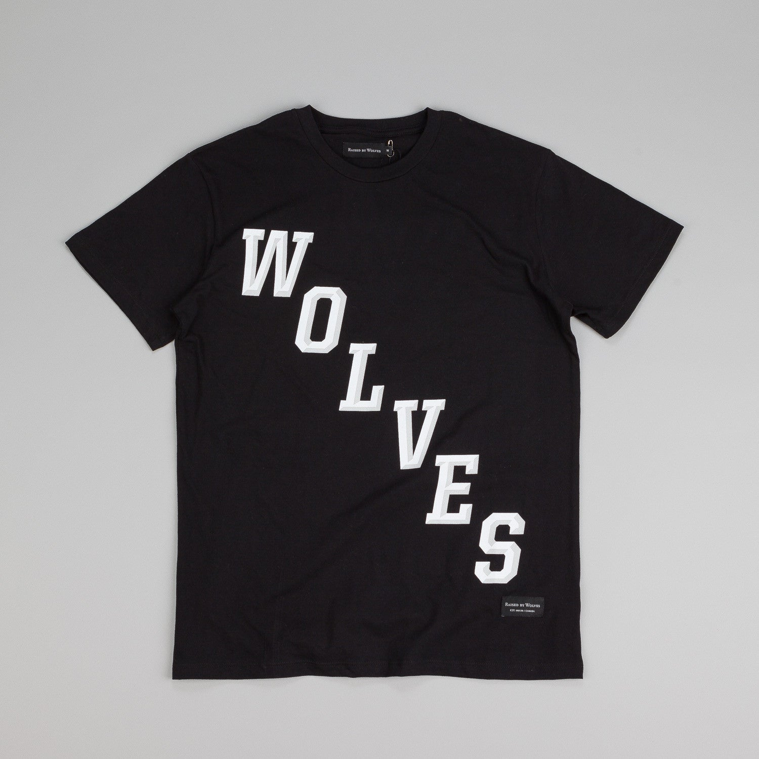 Raised By Wolves Hockey T Shirt Black