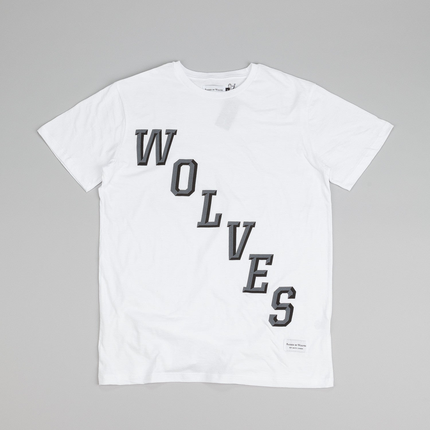 Raised By Wolves Hockey T Shirt White