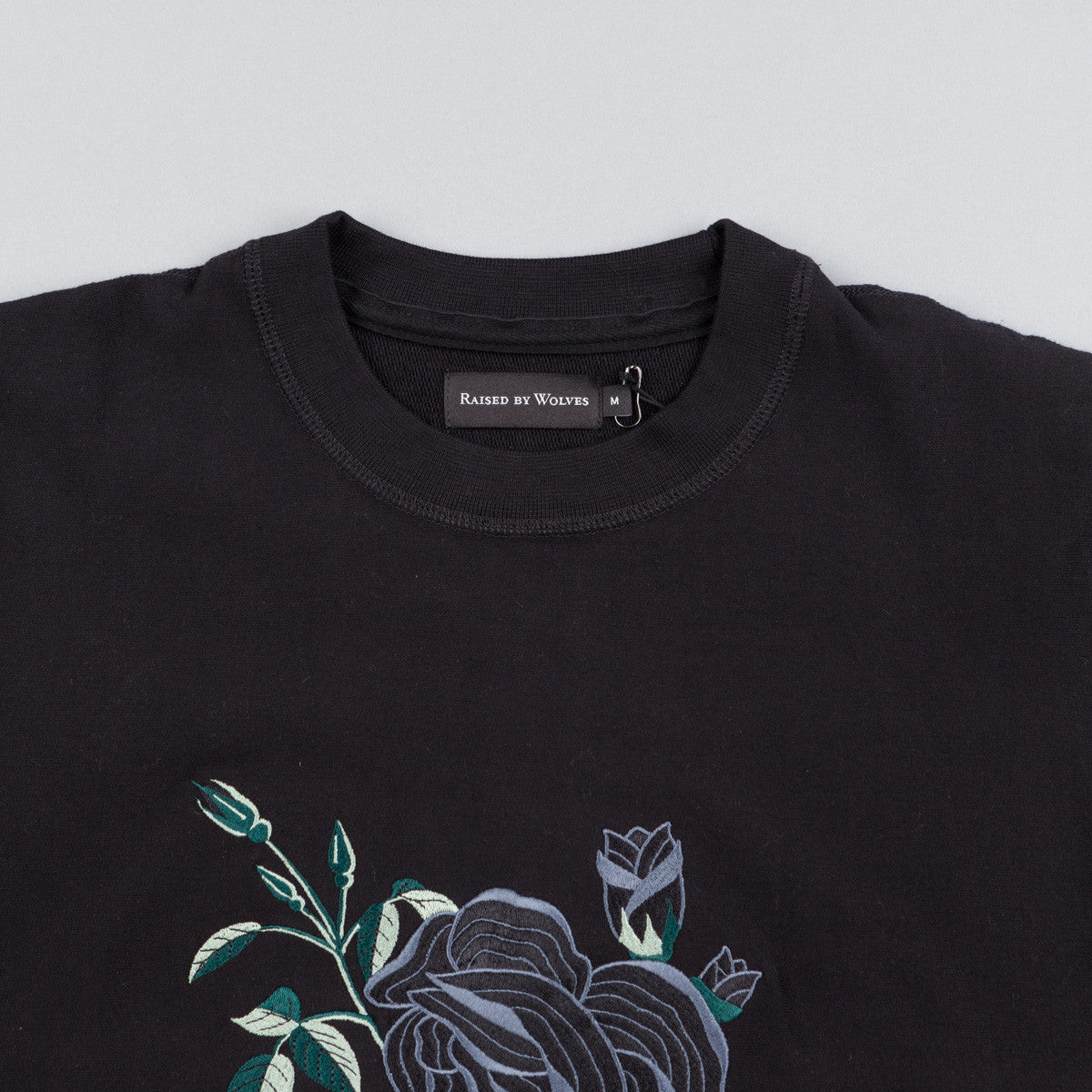 Raised By Wolves La Rose Noire Crewneck - Black
