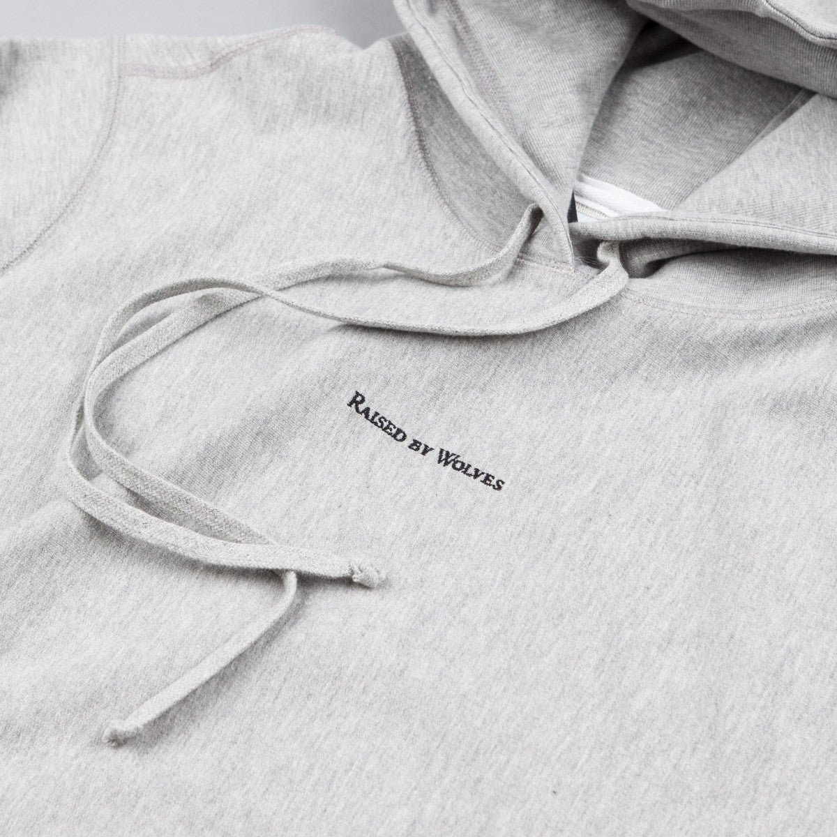 Raised By Wolves Micrologo Hooded Sweatshirt - Heather Grey