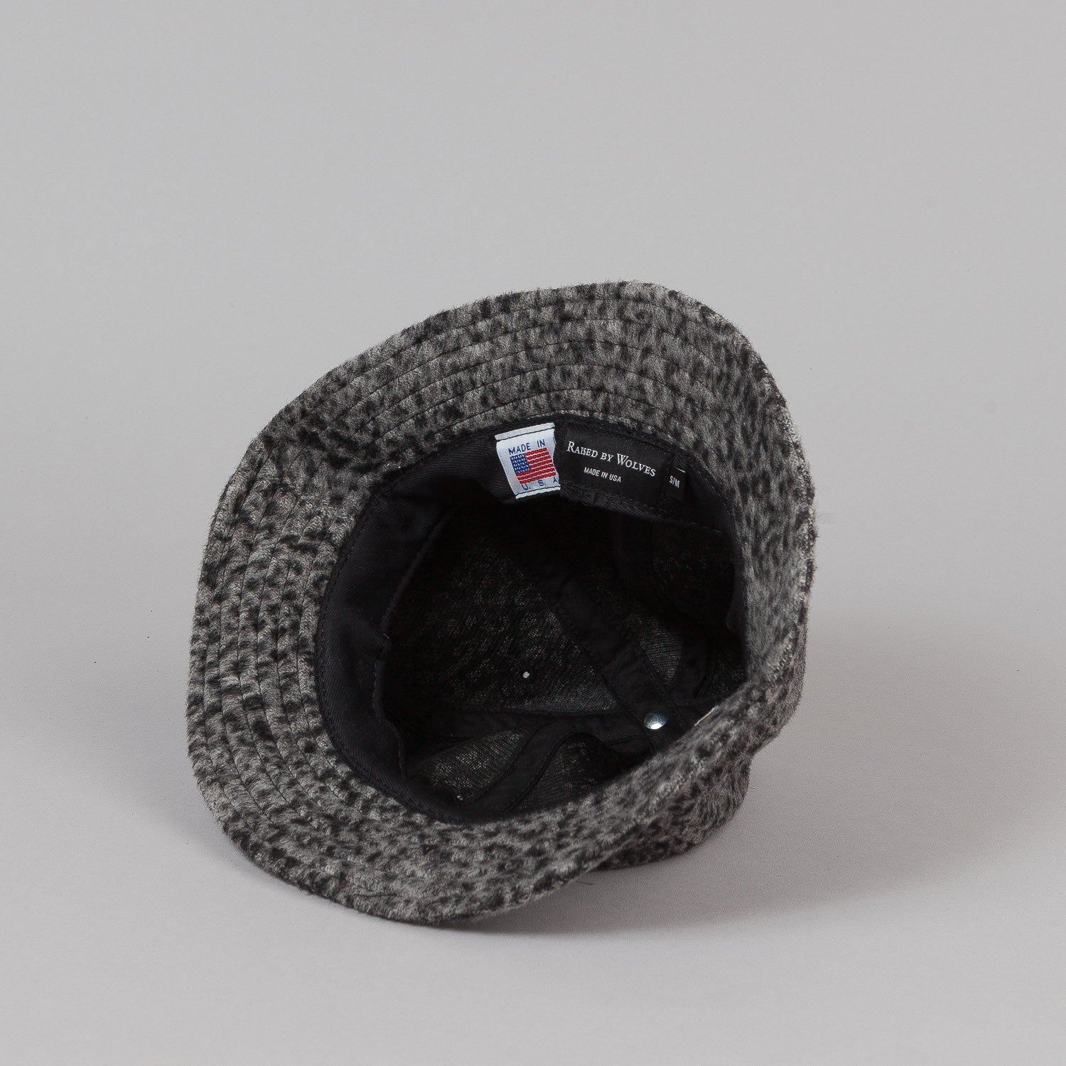Raised By Wolves Nanaimo Bell Hat - Leopard Wool Grey