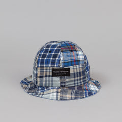 Raised By Wolves Nanaimo Bell Hat - Patchwork Blue Plaid