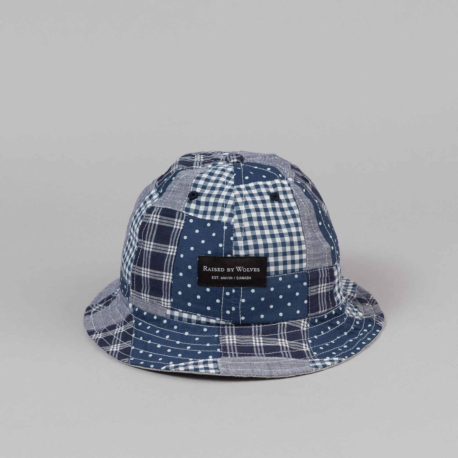 Raised By Wolves Nanaimo Bell Hat - Patchwork Navy Mix
