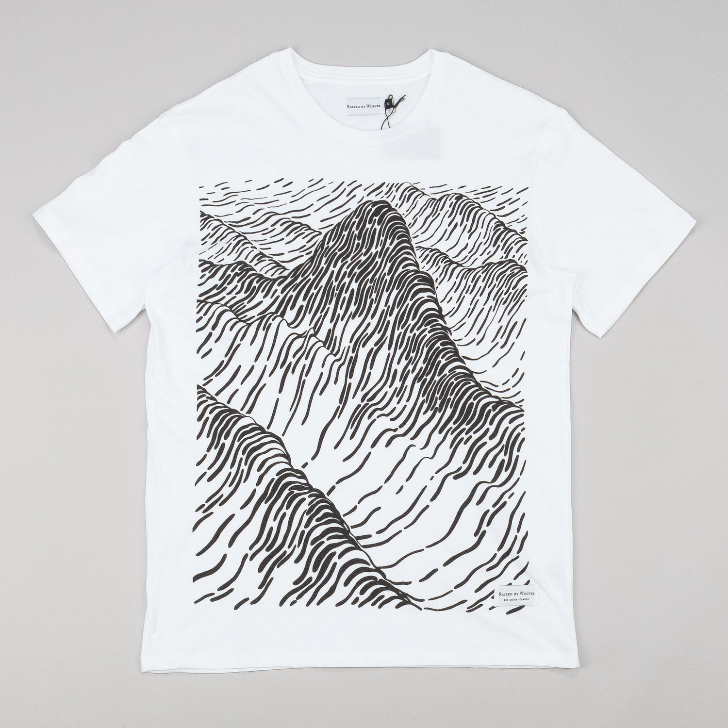 Raised By Wolves Peaks T-Shirt - White