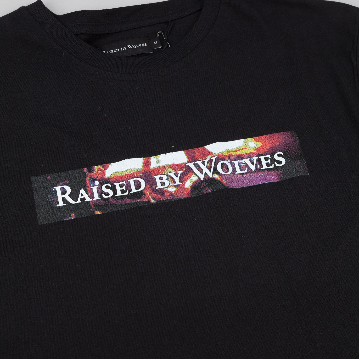 Raised By Wolves Riot Box Logotype T-Shirt - Black