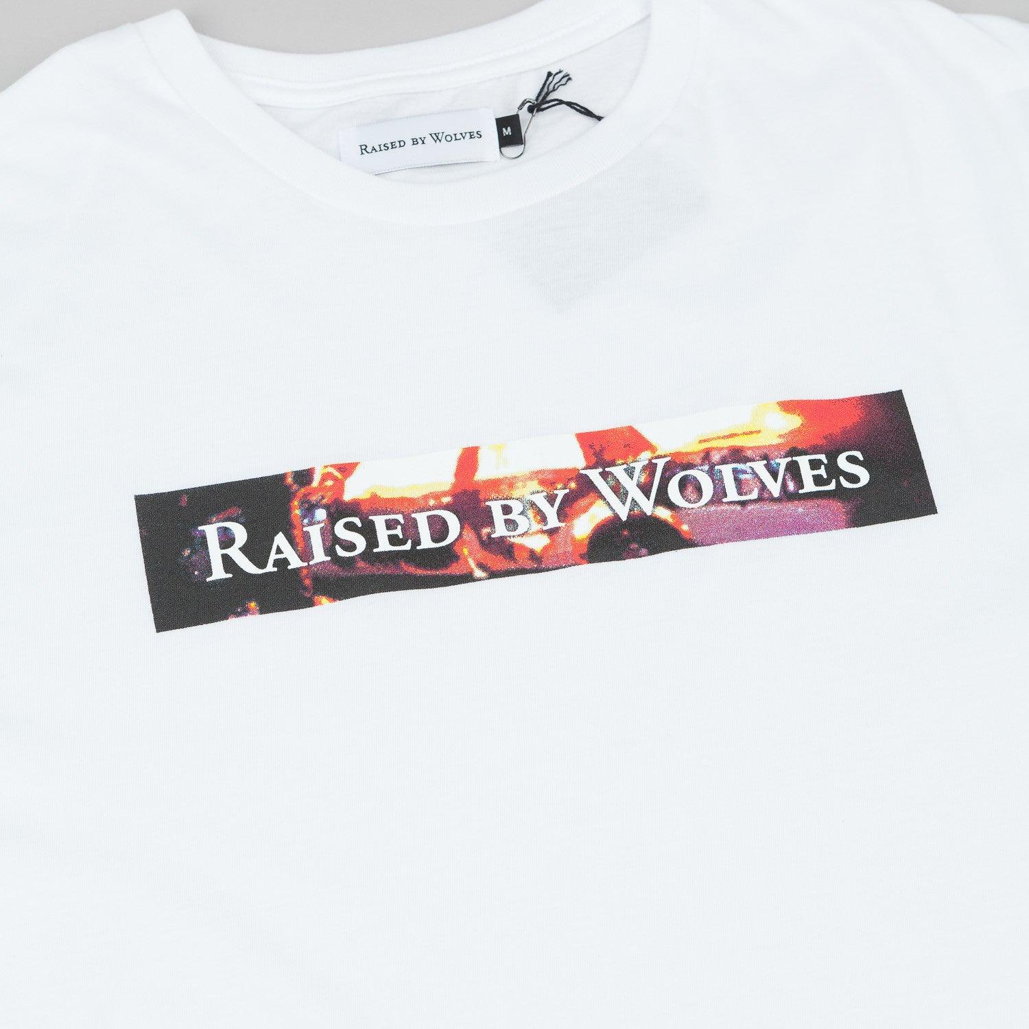 Raised By Wolves Riot Box Logotype T-Shirt - White