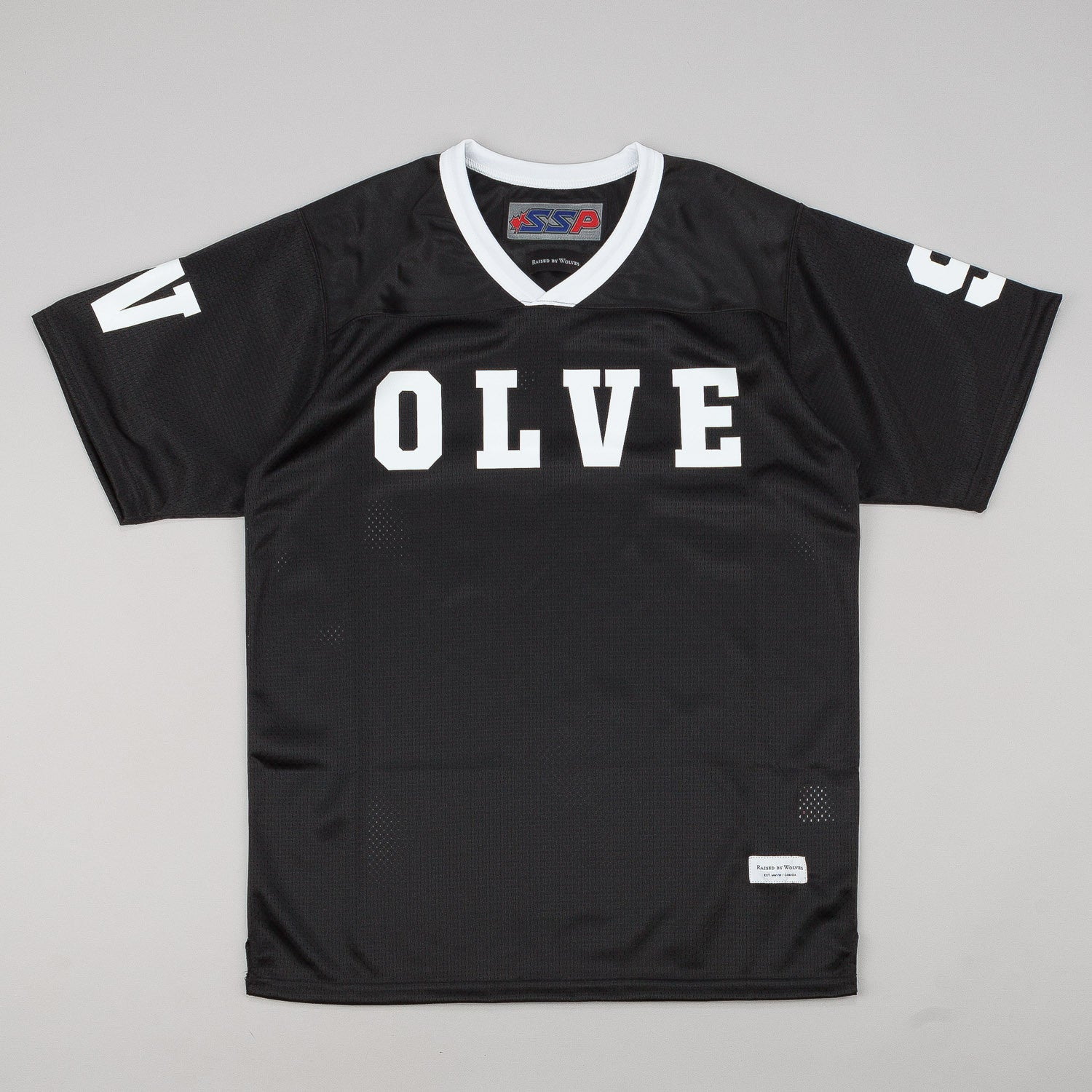 Raised By Wolves S/S Football Jersey - Black Dazzle