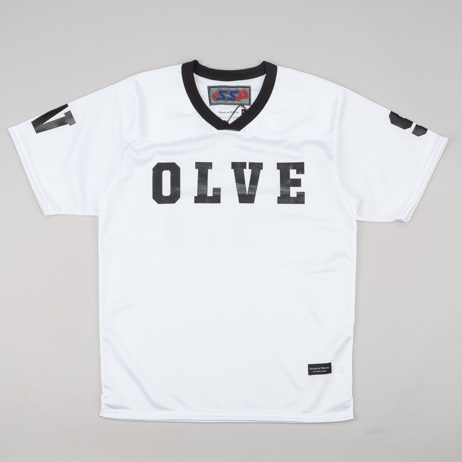 Raised By Wolves S/S Football Jersey - White Dazzle