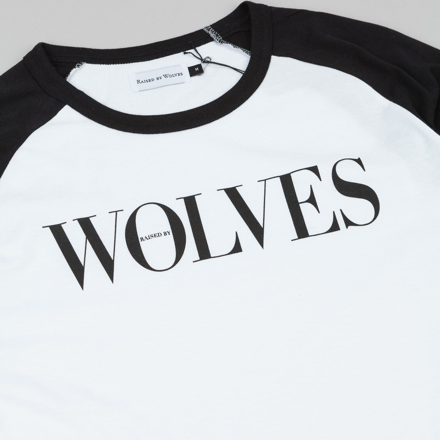 Raised By Wolves September Warm-Up 3/4 Sleeve Raglan T-Shirt - White / Black