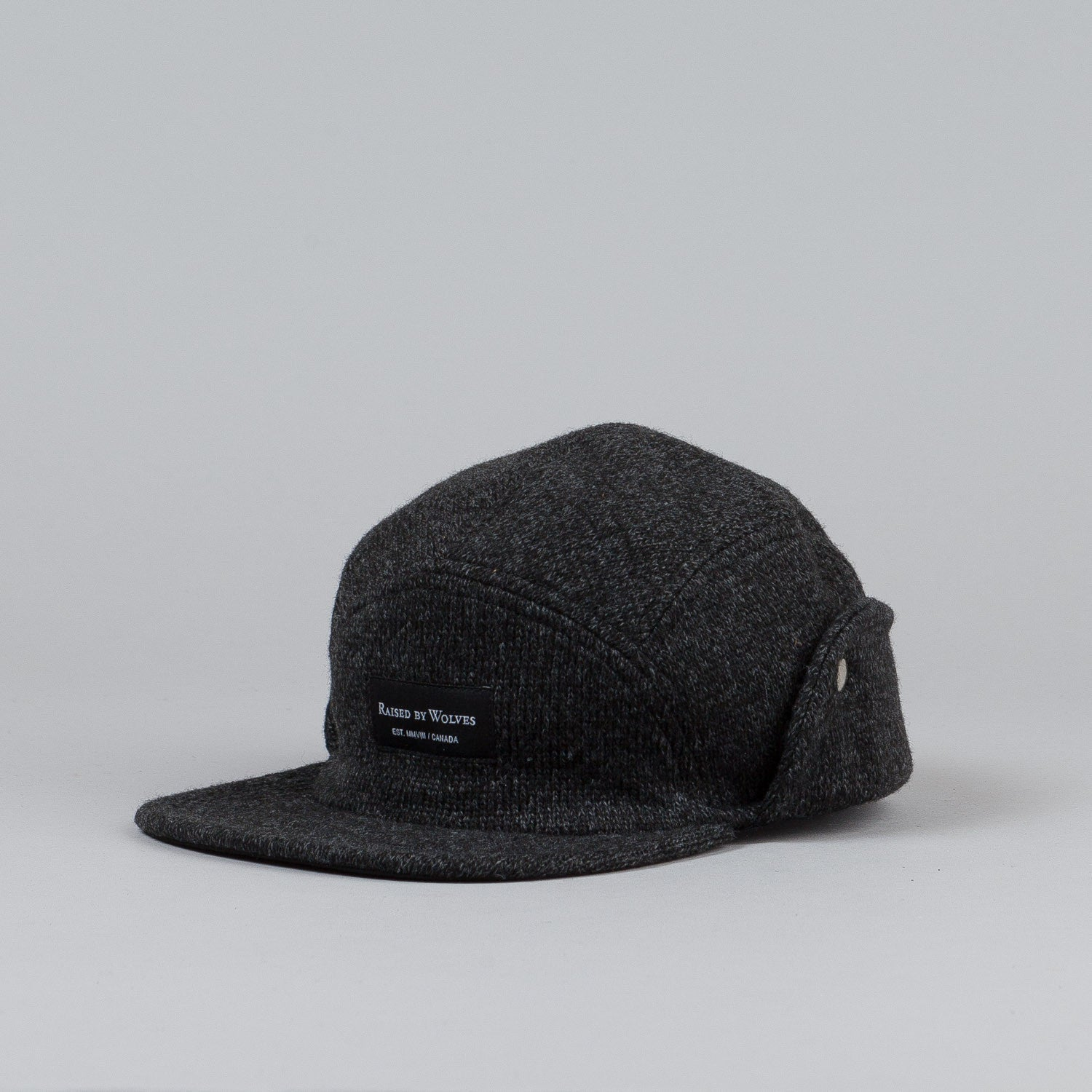 Raised By Wolves Skyline Earflap Cap Charcoal / Black