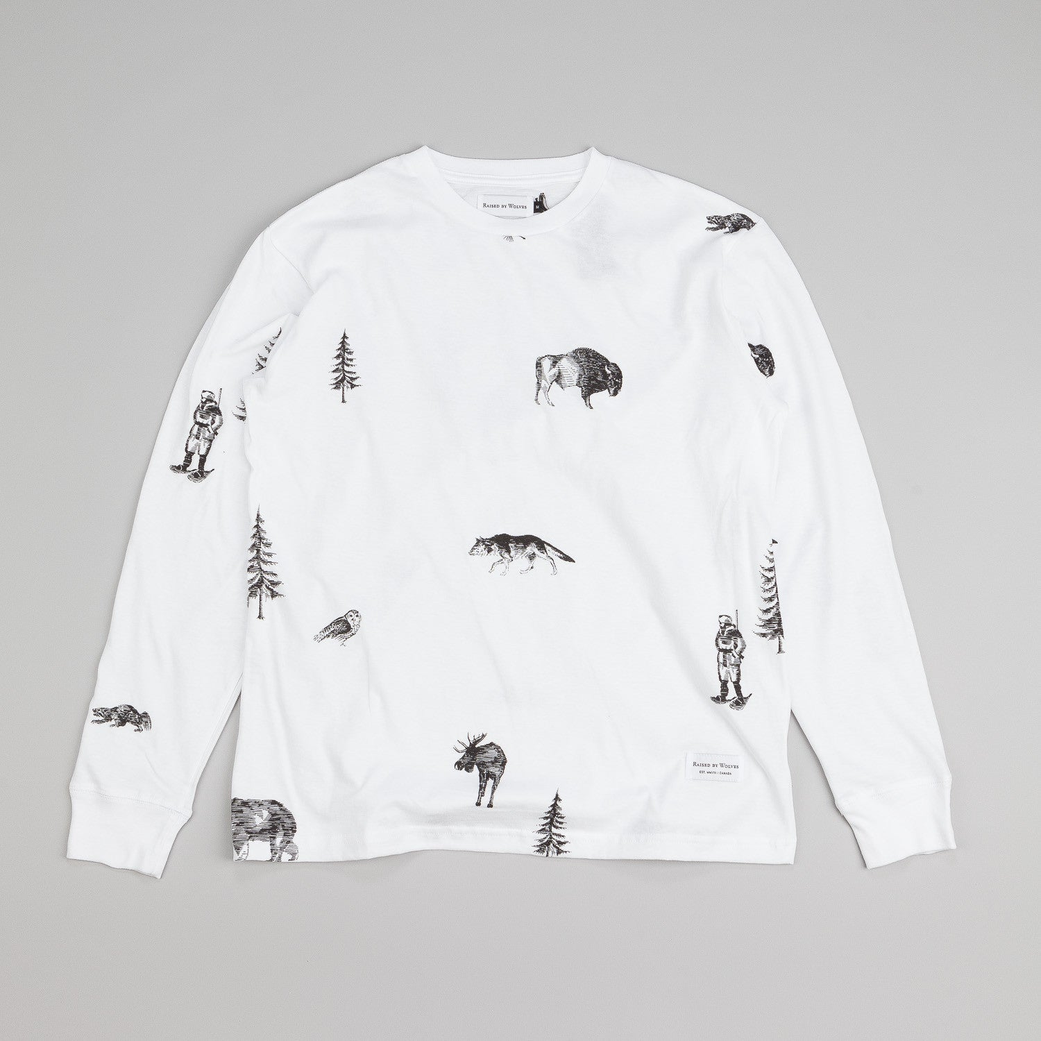 Raised By Wolves Trap Life Longsleeve T Shirt White