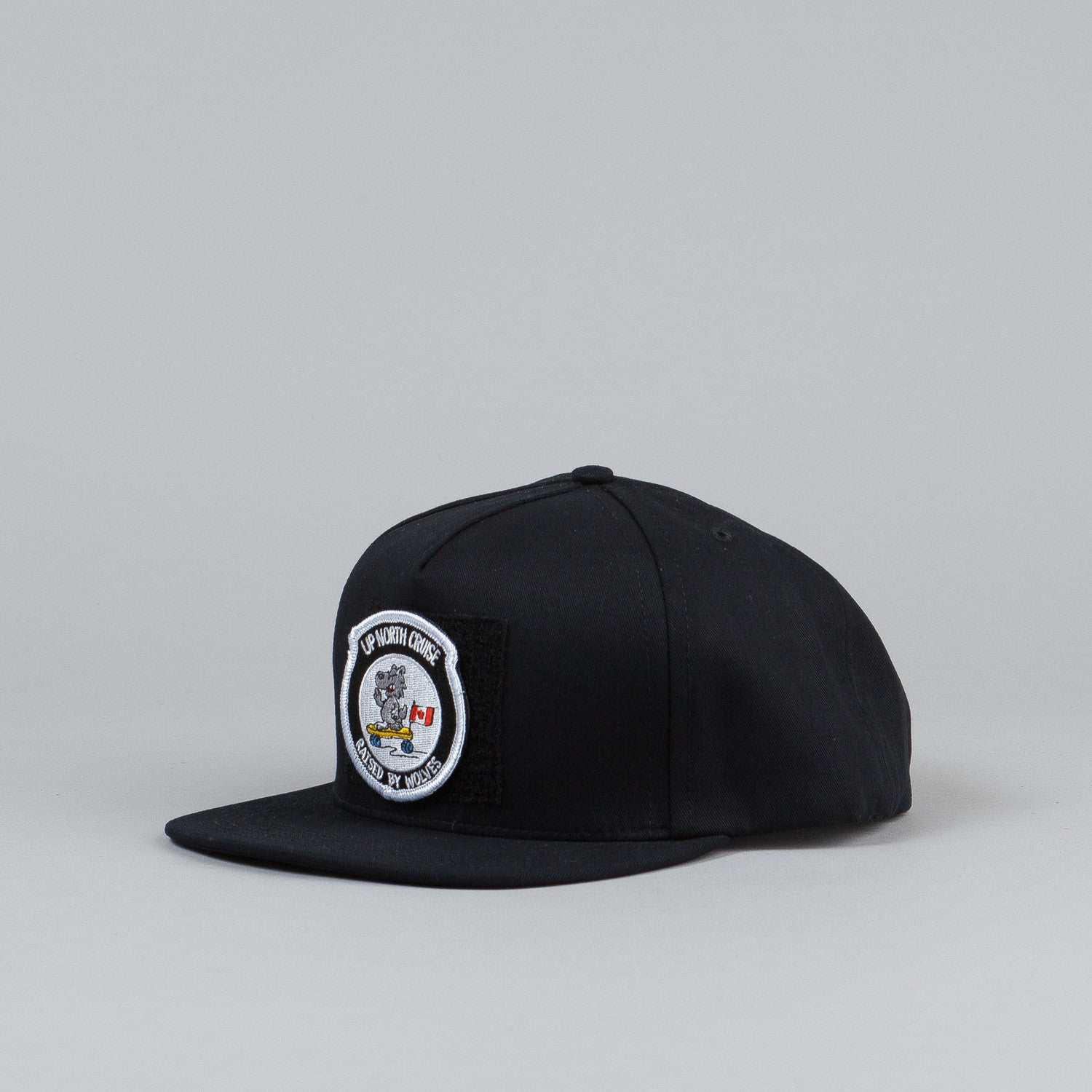 Raised By Wolves Up North Cruise Snapback Cap Black