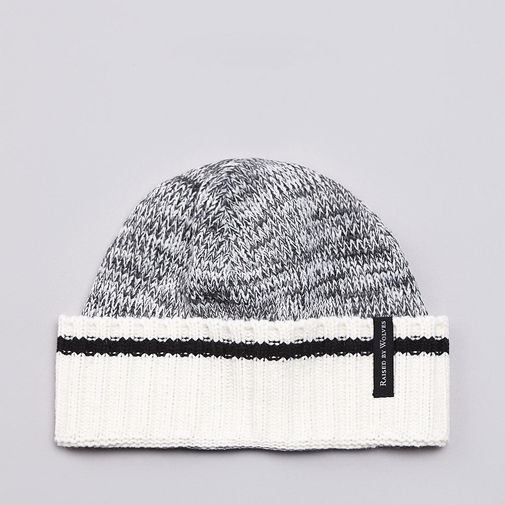 Raised By Wolves Old Port Watch Cap Charcoal Heather / Black Stripe