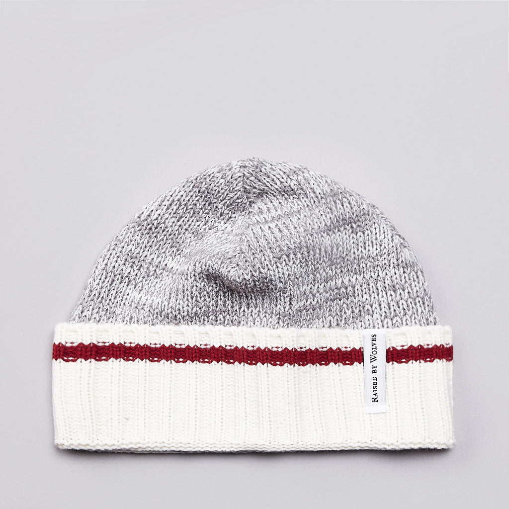 Raised By Wolves Old Port Watch Cap Heather Grey / Red Stripe