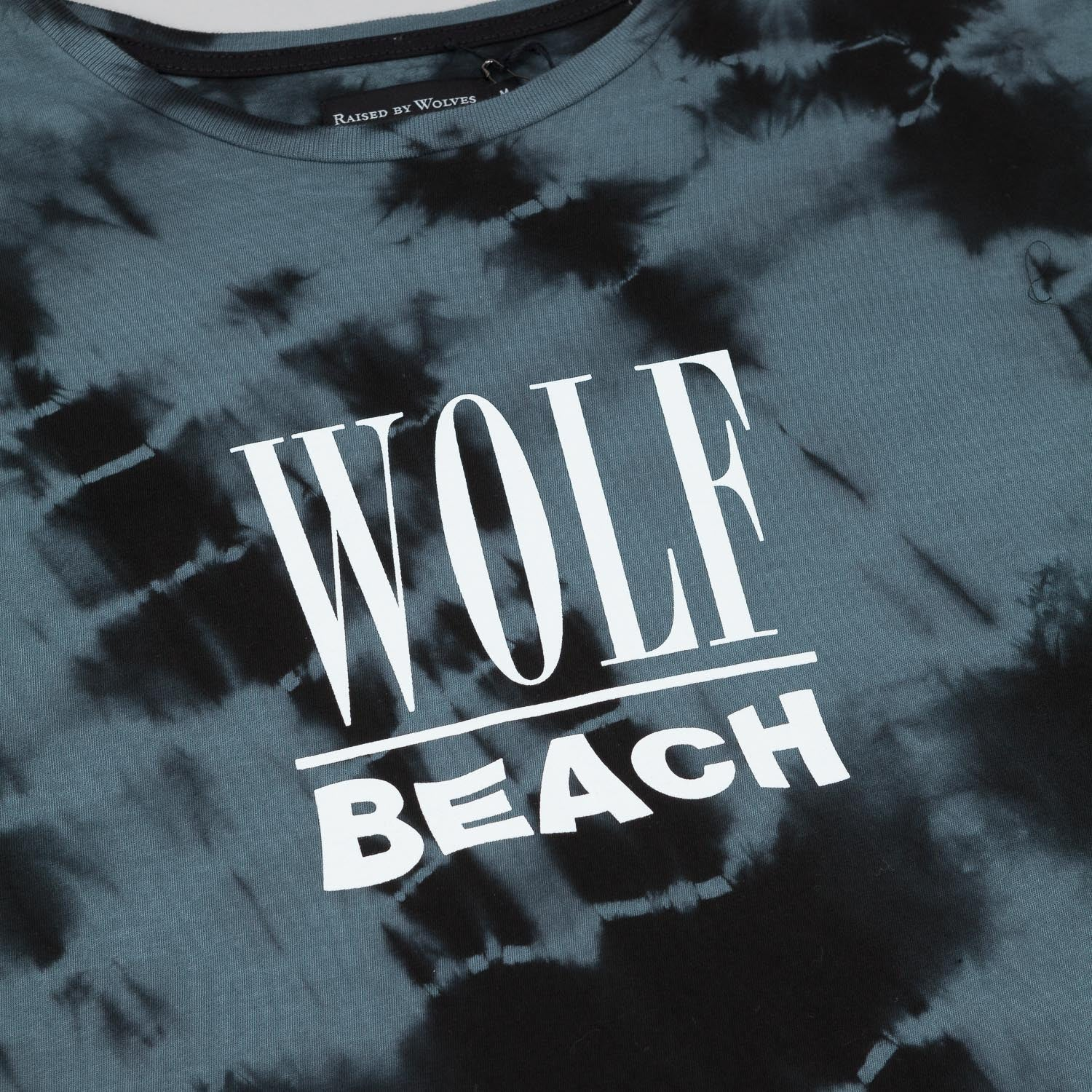 Raised By Wolves Wolf Beach T-Shirt - Black