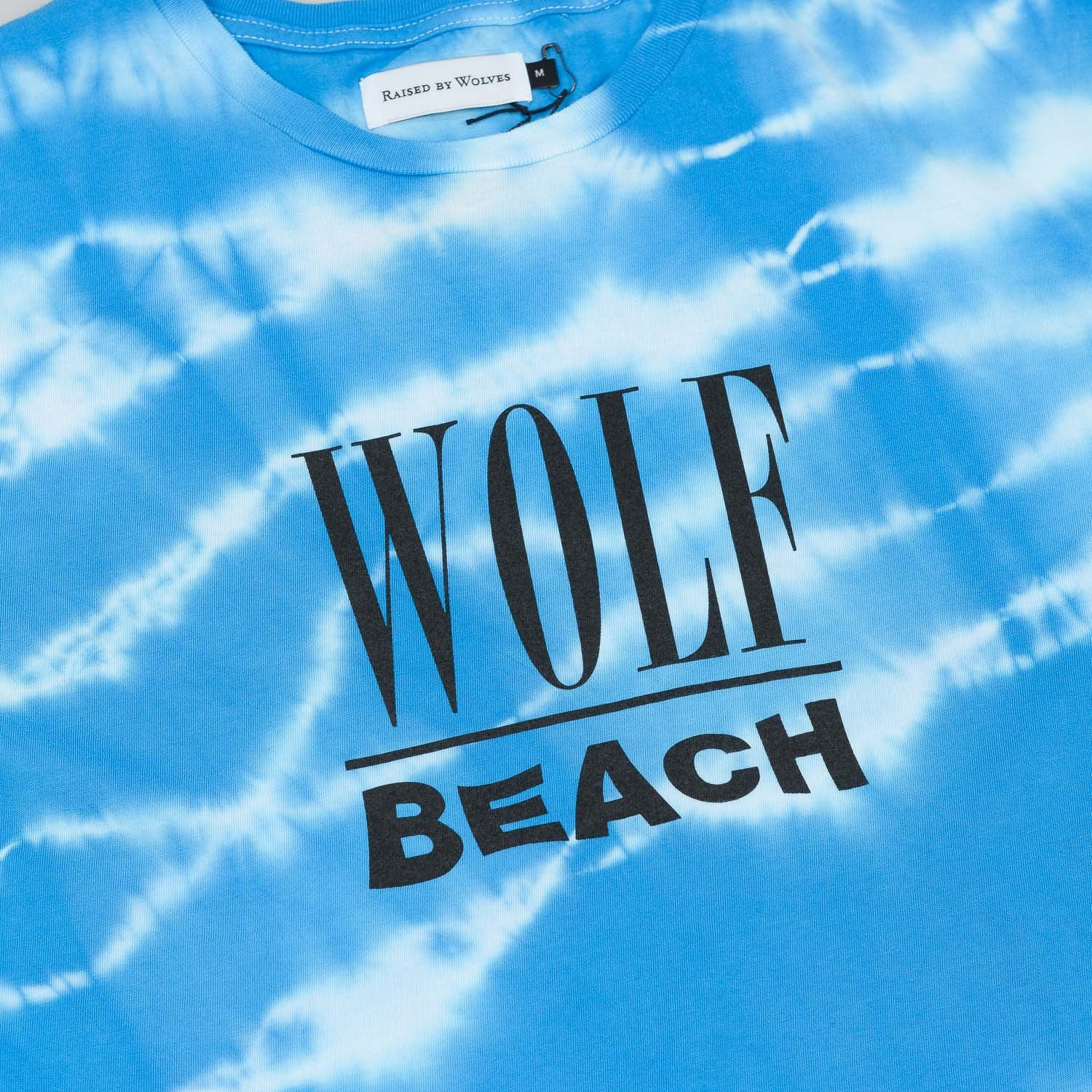 Raised By Wolves Wolf Beach T-Shirt - Blue
