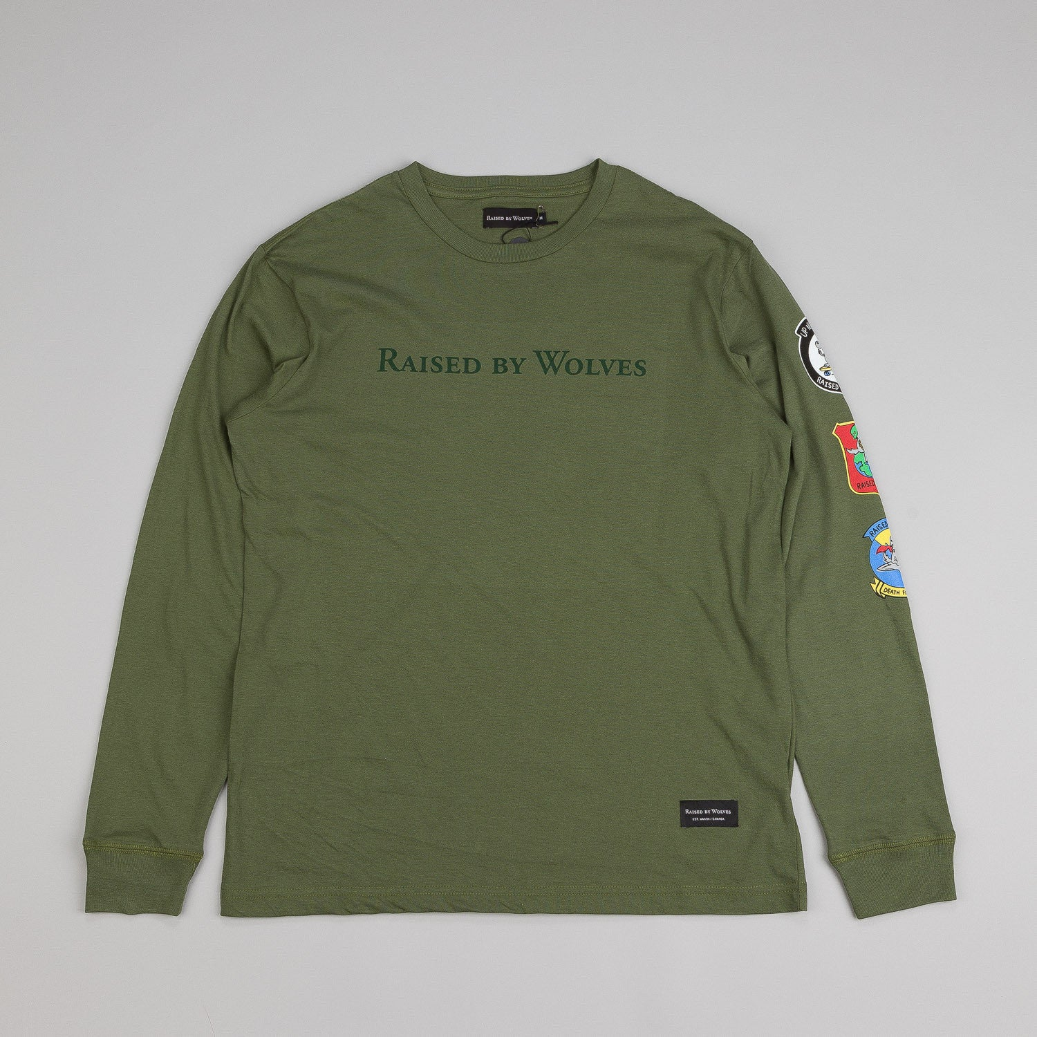 Raised By Wolves Wolfy Longsleeve T Shirt Olive
