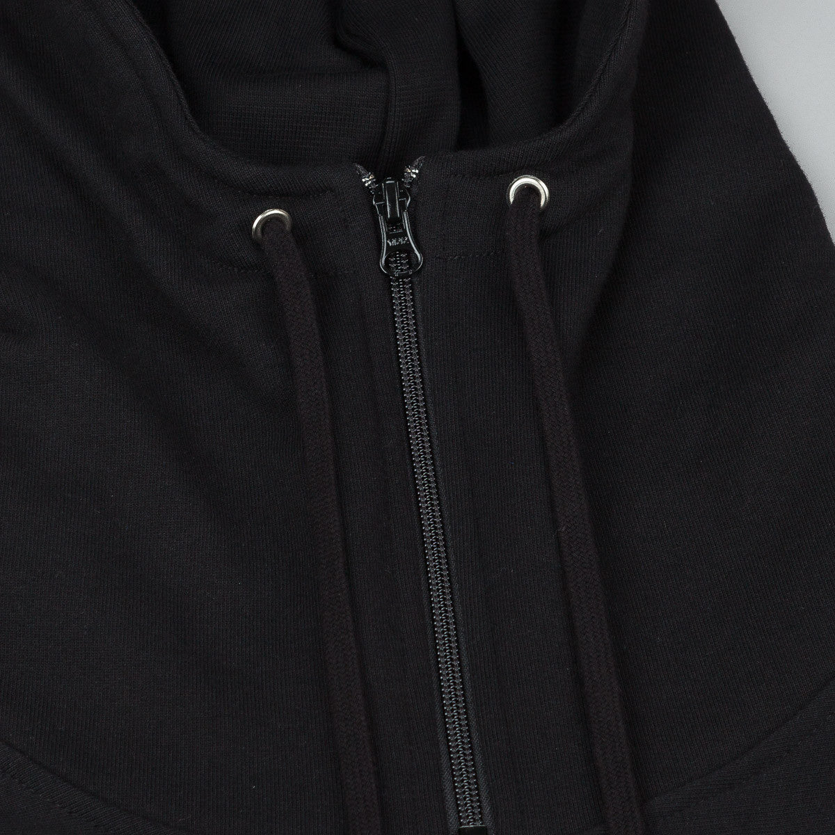 Raised By Wolves x Trashhand Half Zip Hooded Sweatshirt - Black