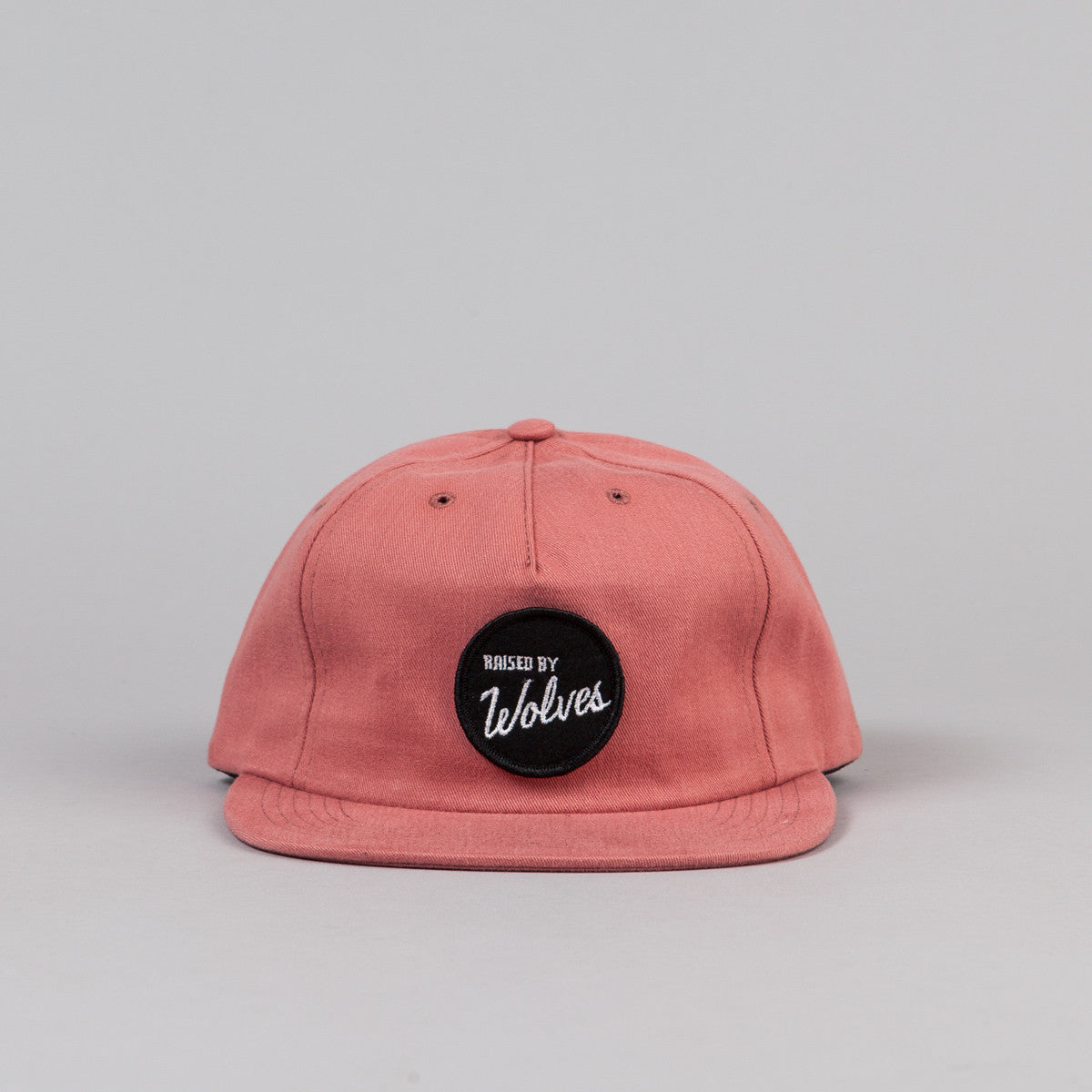 Raised By Wolves Varsity Polo Cap - Clay Sanded Brush Twill