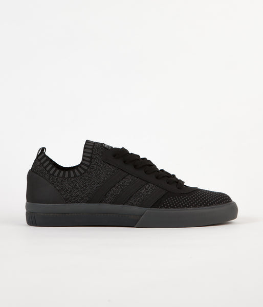 Adidas Lucas Premiere Primeknit Shoes - Black / Black / Dark Grey Heather Solid Grey