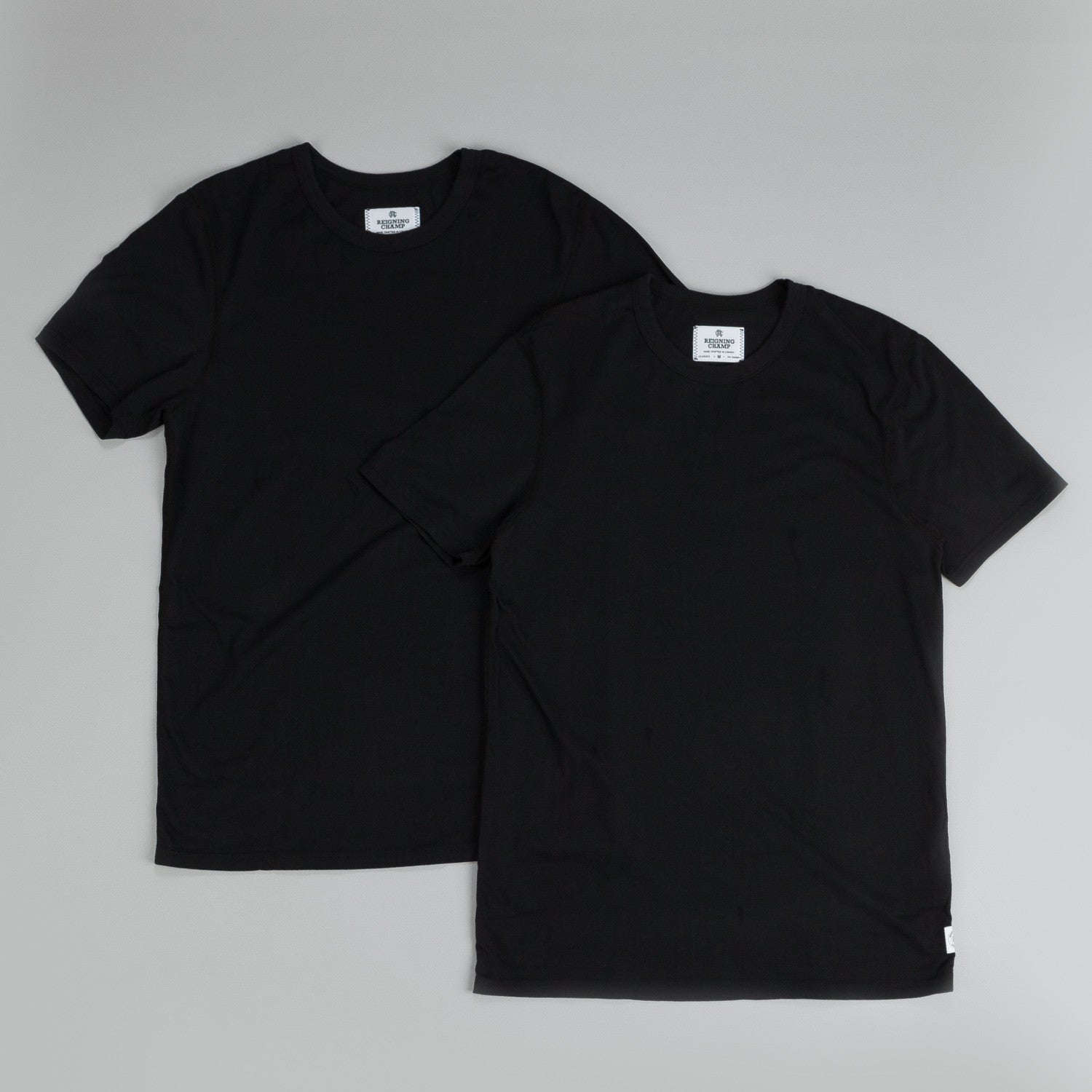 Reigning Champ 2-Pack T Shirts Black