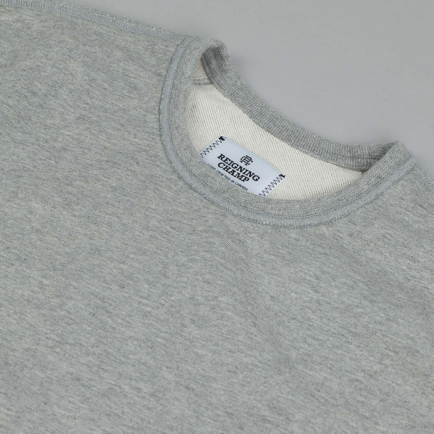 Reigning Champ Core Crew Neck Sweatshirt Heather Grey