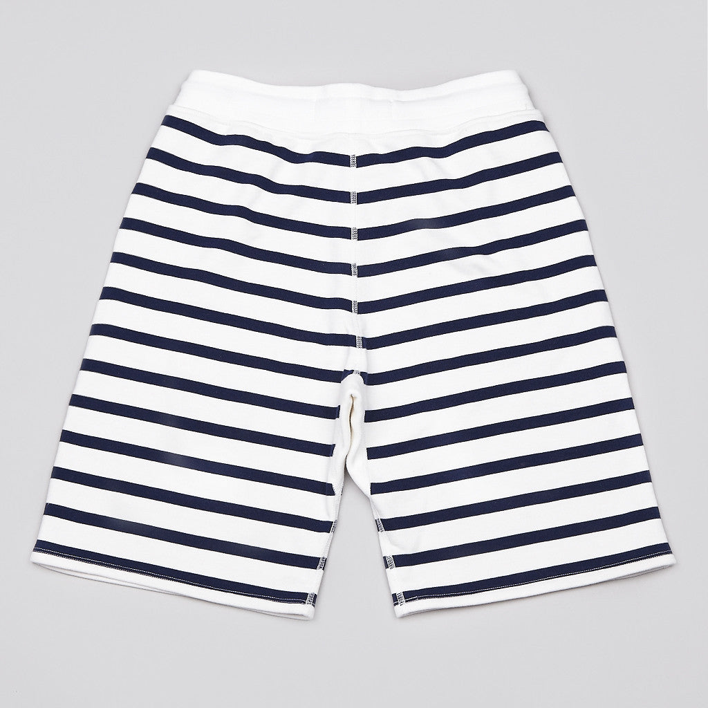 Reigning Champ X Beauty & Youth Sweatshort White / Navy Stripe