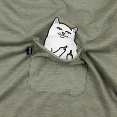 Rip N Dip Lord Nermal Pocket T-Shirt - Olive