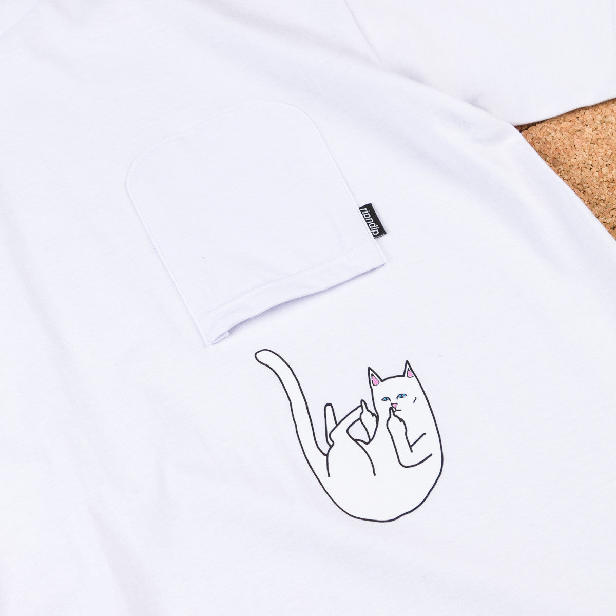 Rip N Dip Falling For Nermal Pocket T-Shirt - White