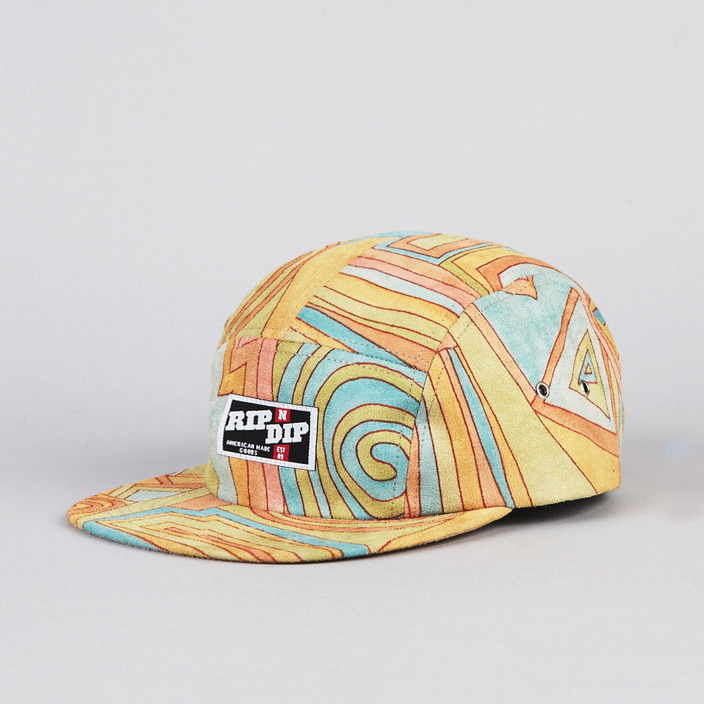Rip N Dip Suede 5 Panel Camp Cap Acid