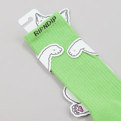 Rip N Dip Alien Face Socks - Green