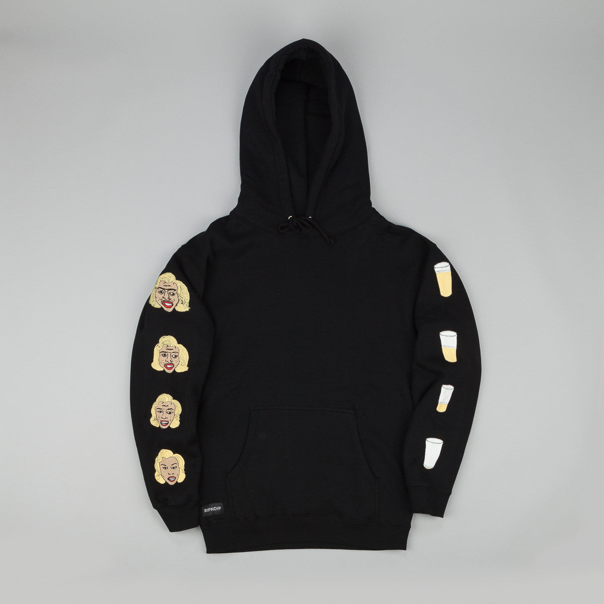 Rip N Dip Beer Me Hooded Sweatshirt - Black