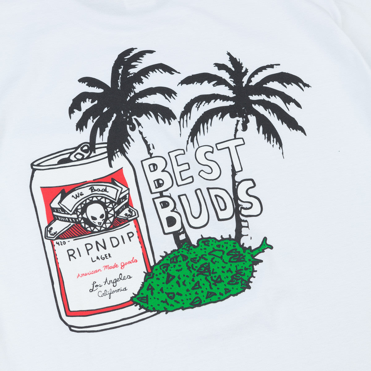 Rip N Dip Best Buds Pocket T-Shirt - White