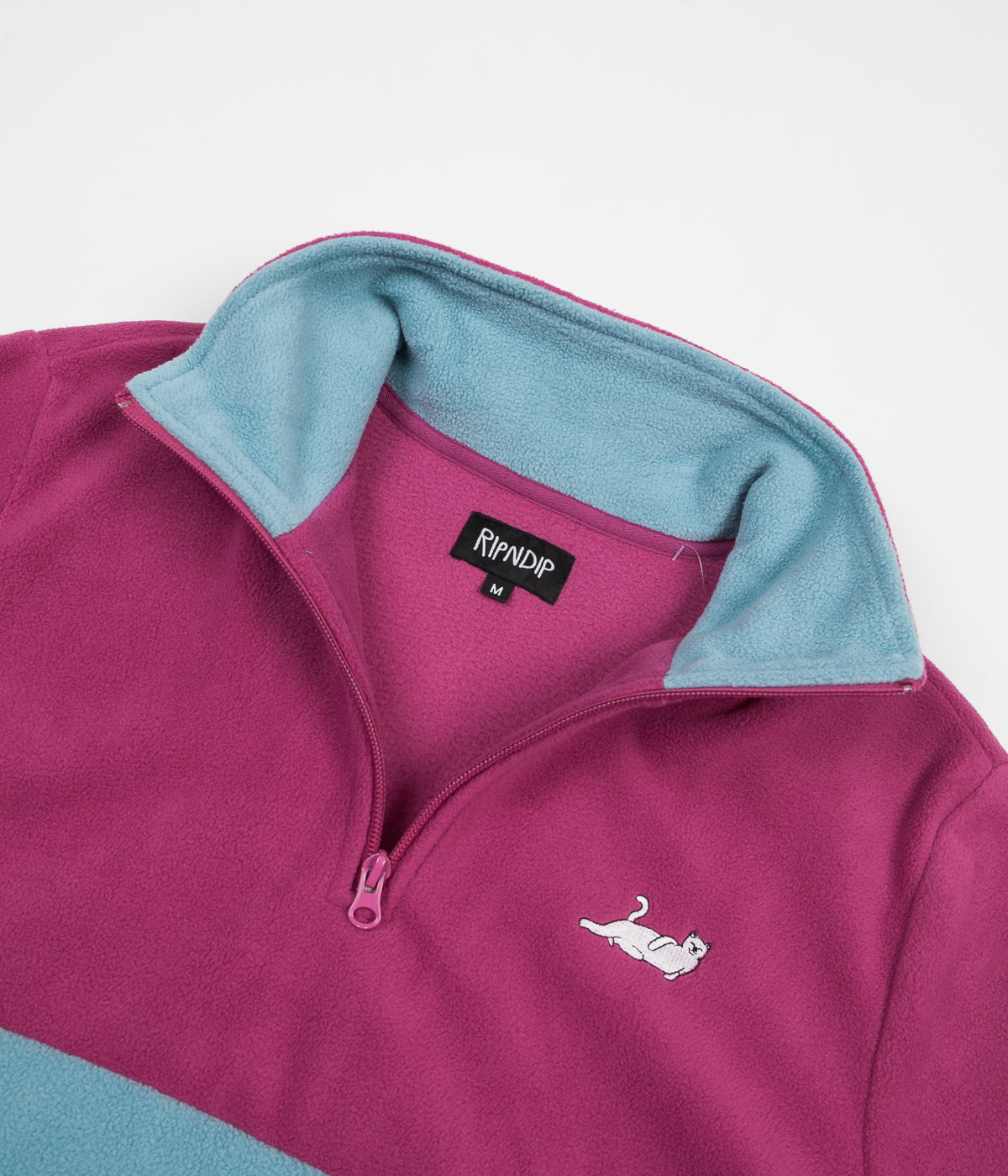 Rip N Dip Castanza Half Zip Brushed Fleece - Purple