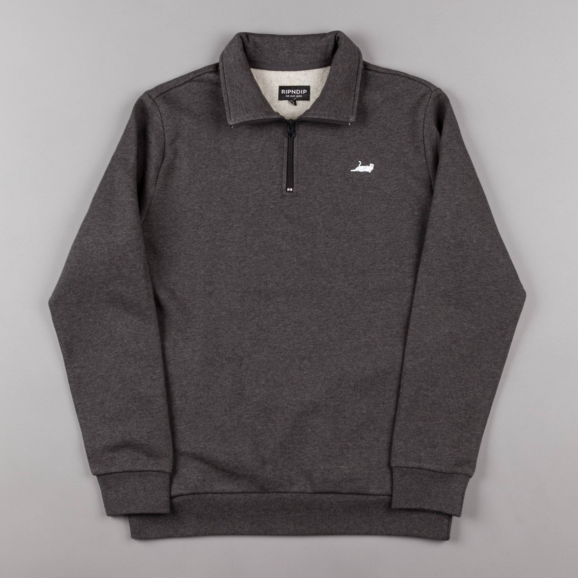 Rip N Dip Castanza Half-Zip Sweatshirt - Heather Grey