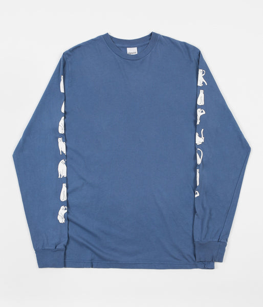 Rip N Dip Cats Long Sleeve T-Shirt - Washed Blue