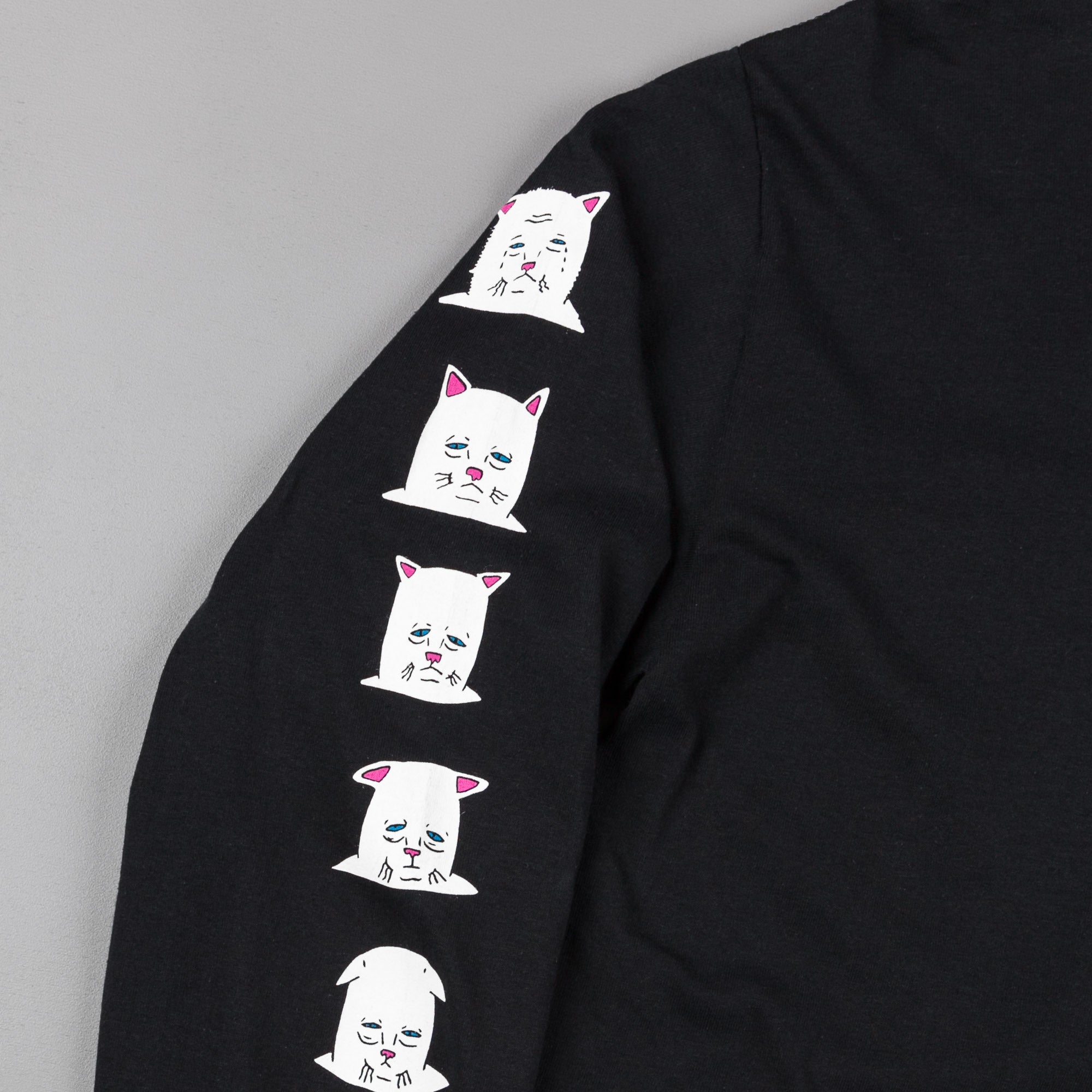 Rip N Dip Caturdays Long Sleeve T-Shirt - Black