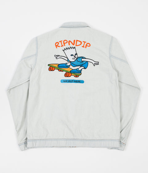 Rip N Dip Catwabunga Denim Jacket - Blue
