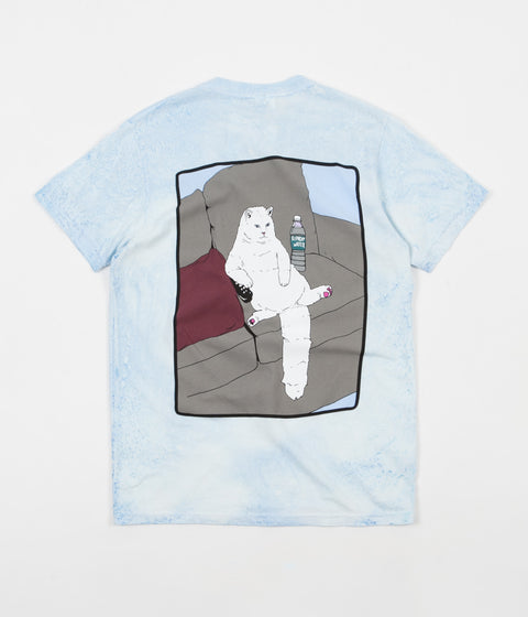 Rip N Dip Couch Potato T-Shirt - Blue / White Mineral Wash